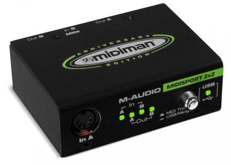 m-audio midispo2x2