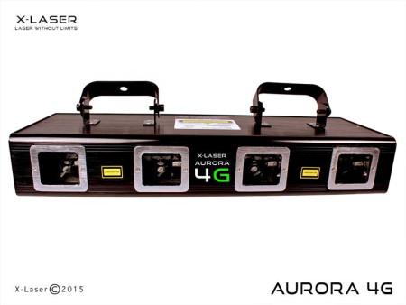 X-Laser AURORA 4G CLUB PACK Quad Head, Emerald Green 200mW Laser Package