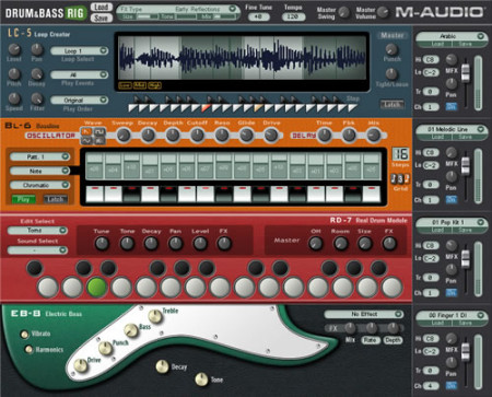 m-audio drumnbassrig