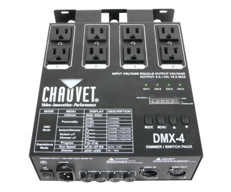 chauvet dmx4led   new