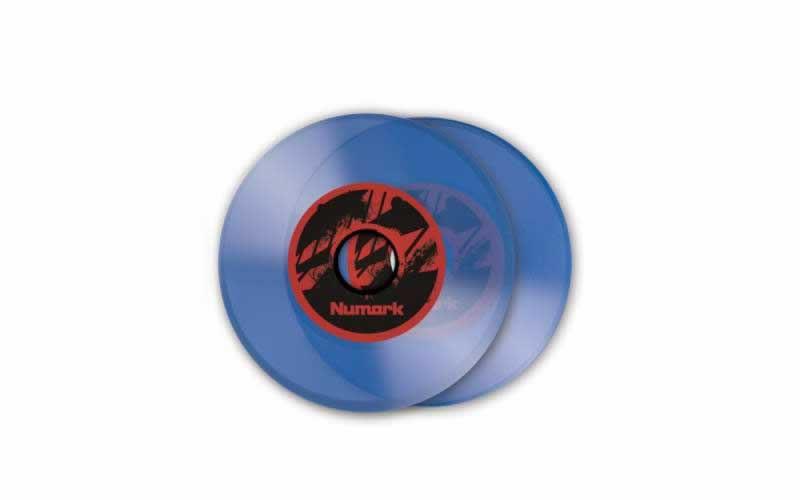 Numark 7-Inch Custom Colored Vinyl for NS7 (1 Pair), Ice Blue