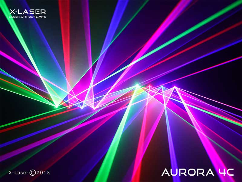 x laser aurora 4c quad head 450mw full color laser planet dj