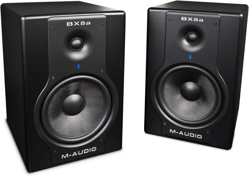 maudio studiophile bx8a deluxe 130 watt bi amplified studio reference monitors pair new. Black Bedroom Furniture Sets. Home Design Ideas