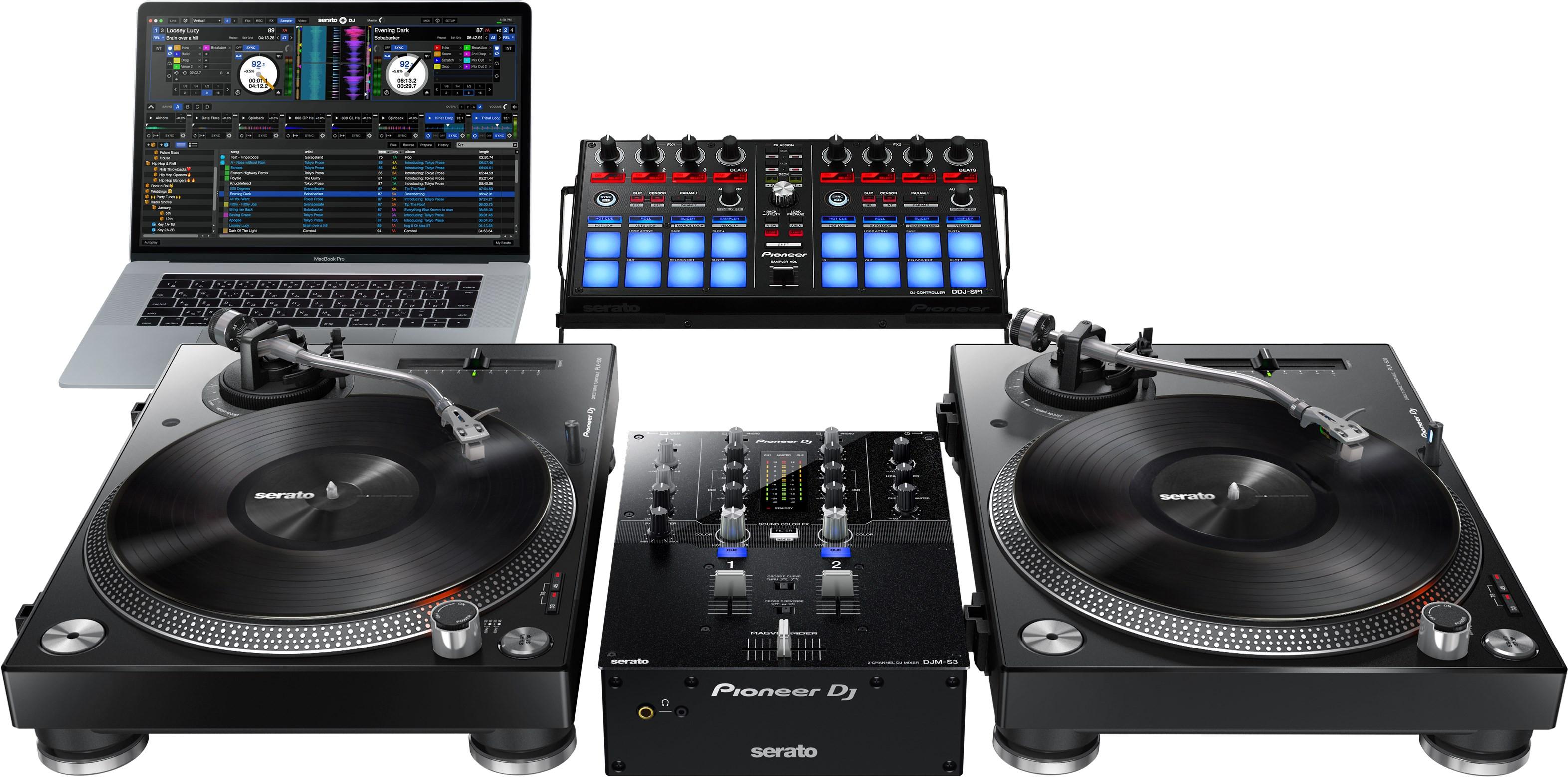 pioneer mixer. pioneer djm-s3 2-channel mixer for serato dj, black