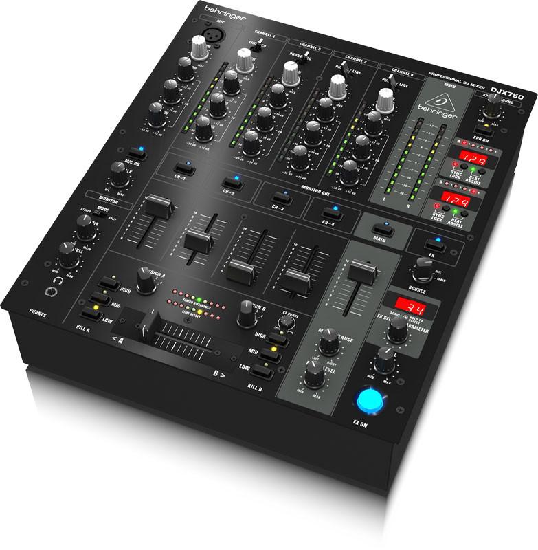 behringer djx750 professional 5 channel dj mixer new planet dj. Black Bedroom Furniture Sets. Home Design Ideas