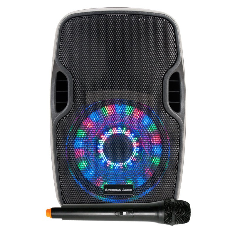 american audio els go 8ltw 8 39 39 battery powered speaker with led and mic planet dj. Black Bedroom Furniture Sets. Home Design Ideas