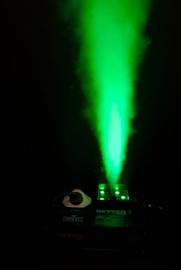 Chauvet Dj Geyser Rgb Glowing Column Dmx Fog Machine