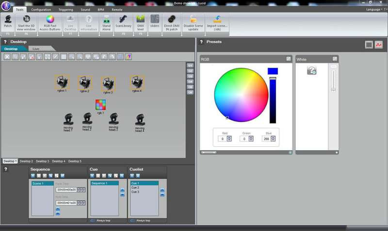 Blizzard LUCID 180 IQ Pro Version DMX Lighting Software Design