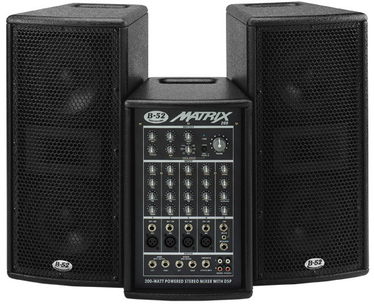 b52 matrix 200 3 piece active speaker pa system planet dj. Black Bedroom Furniture Sets. Home Design Ideas