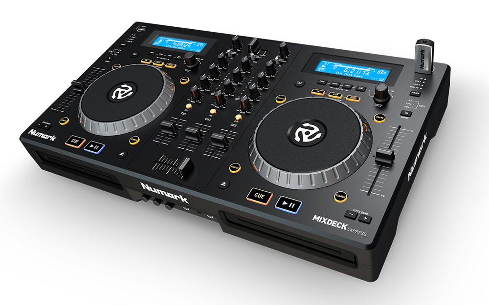Numark Mixdeck Express MKII CD/USB DJ Controller, Black