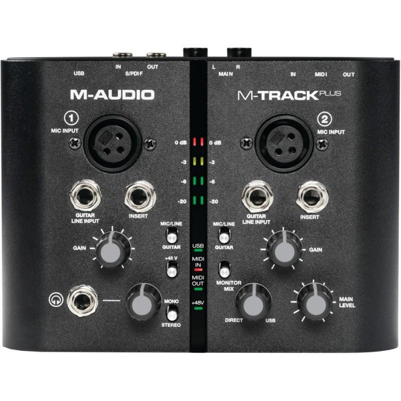 maudio m track plus two channel usb audio midi interface w pro tools ex planet dj. Black Bedroom Furniture Sets. Home Design Ideas