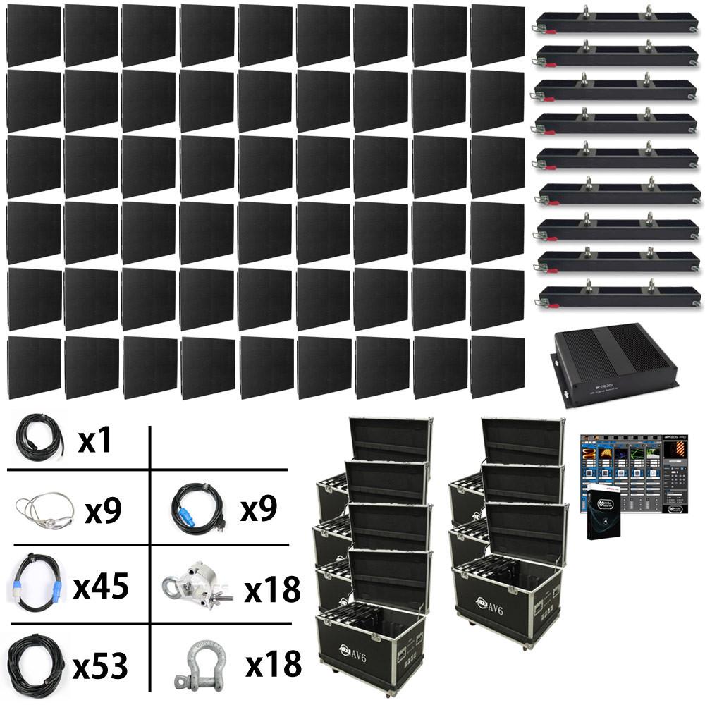 ADJ AV6 17ft x 11 4ft Mobile Video Wall Package