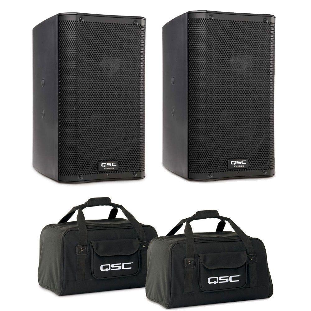"QSC K8 Active Powered 8"" Speaker Package"