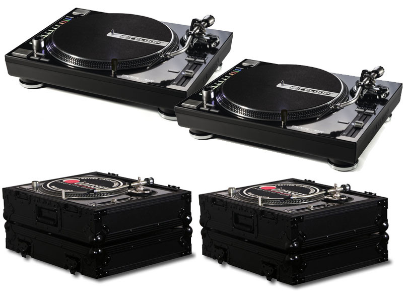 Reloop Rp8000 Turntable Package W Odyssey Fz1200bl Cases