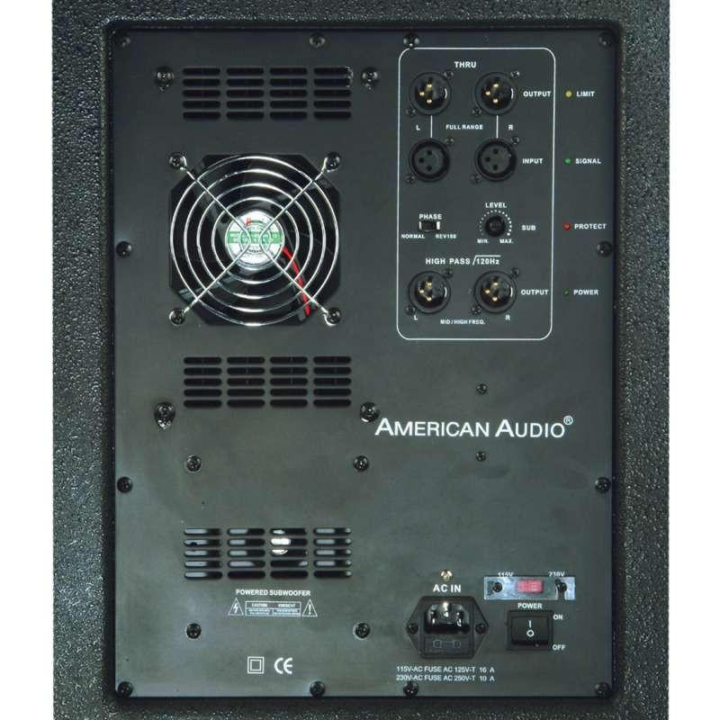 american audio pxw15p 15 powered subwoofer planet dj. Black Bedroom Furniture Sets. Home Design Ideas