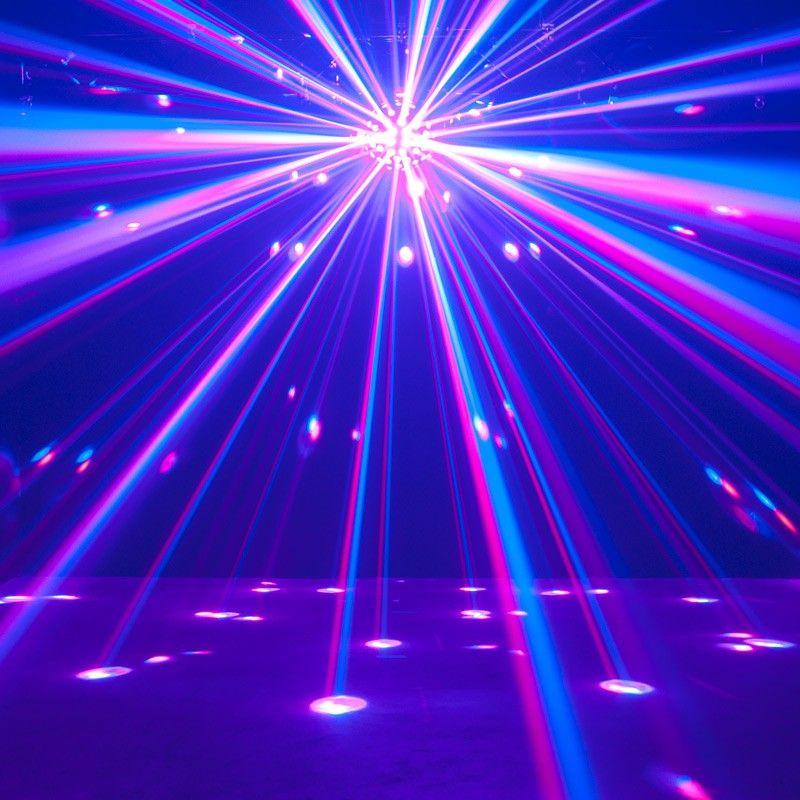 Adj Starburst Disco Effect Light With 5 6 In 1 Rgbwyk Led