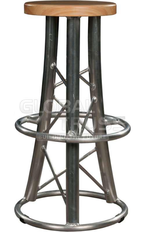 Global Truss Truss Stool 2 Curved Leg Bar Stool Chair W