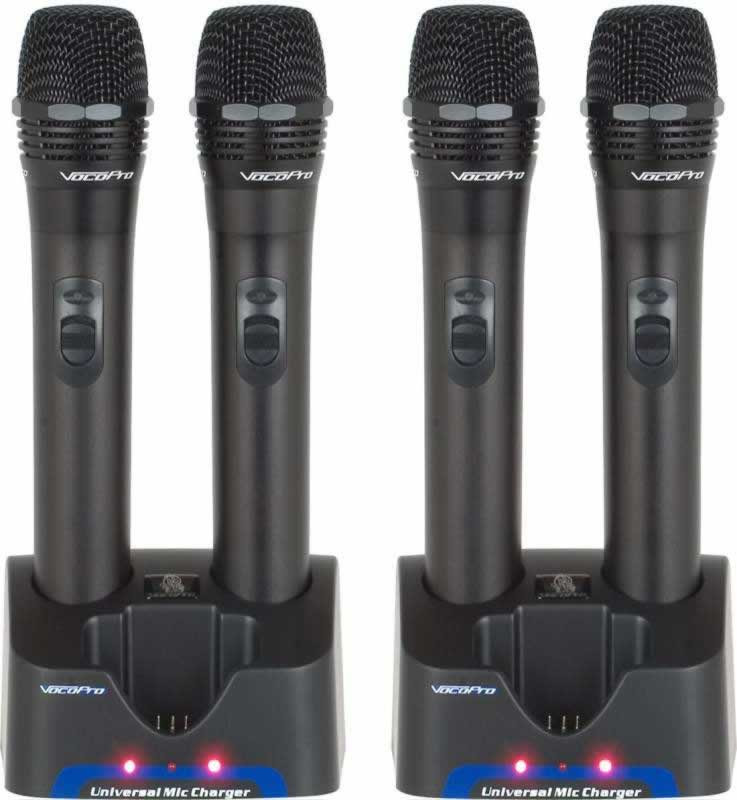 Vocopro Uhf 5805 Professional Rechargeable 4 Channel Uhf