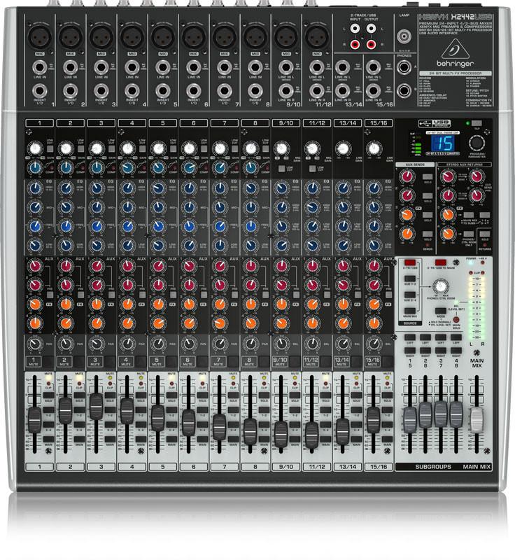 behringer x2442usb premium 24 input 4 2 bus xenyx mixer planet dj. Black Bedroom Furniture Sets. Home Design Ideas