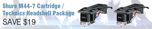Shure M44-7 Technics Headshell Package